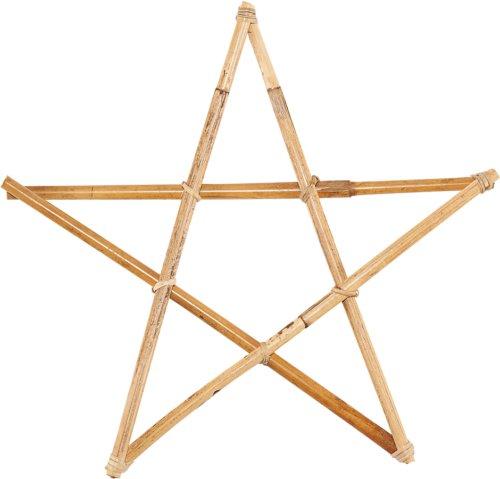 På billedet ser du variationen Ornament, Star, 2 Stk./pk. fra brandet House Doctor i en størrelse Ø: 40 cm. i farven Natur