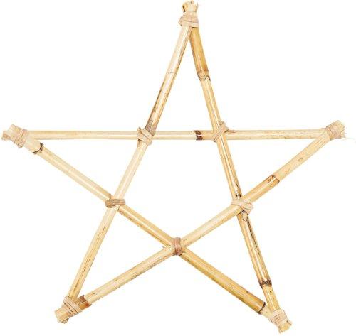 På billedet ser du variationen Ornament, Star, 4 Stk./pk. fra brandet House Doctor i en størrelse Ø: 25 cm. i farven Natur