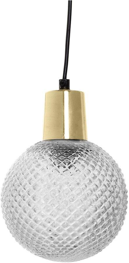På billedet ser du variationen Cozy, Pendel, Glas, Messing fra brandet Bloomingville i en størrelse D: 14 cm. H: 19 cm. i farven Klar