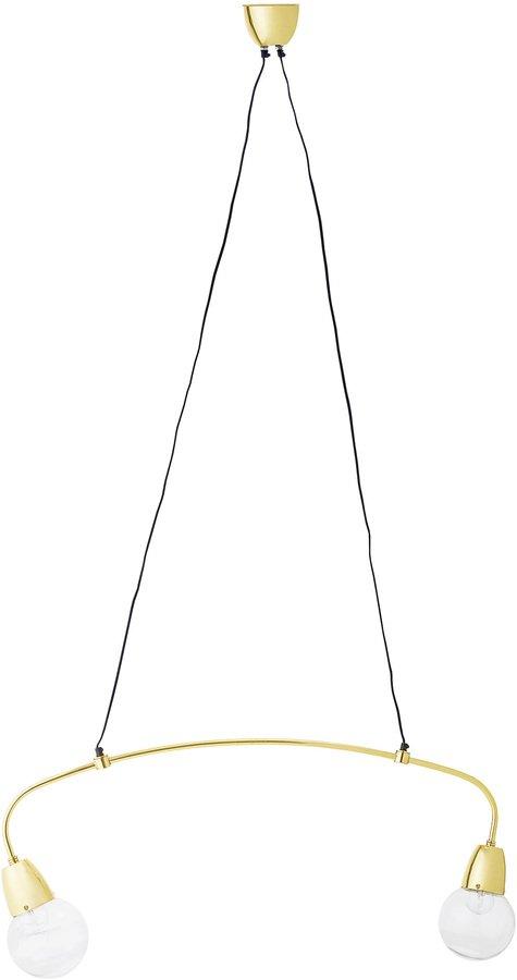 På billedet ser du variationen Pendel, Messing, Glas fra brandet Bloomingville i en størrelse H: 40 cm. L: 94 cm. i farven Guld