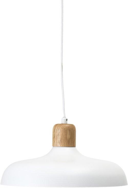 På billedet ser du variationen Nordic, Pendel, Jern, Gummitræ fra brandet Bloomingville i en størrelse D: 34 cm. H: 16 cm. i farven Hvid