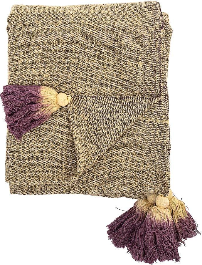 Cozy, Plaid, Bomuld by Bloomingville (B: 130 cm. L: 170 cm., Gul)