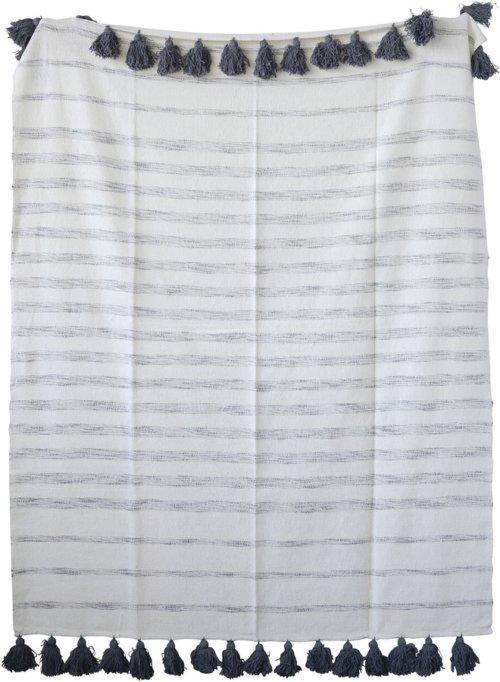 På billedet ser du variationen Jumbled Ex, Plaid, Bomuld fra brandet Creative Collection i en størrelse B: 130 cm. L: 150 cm. i farven Grå