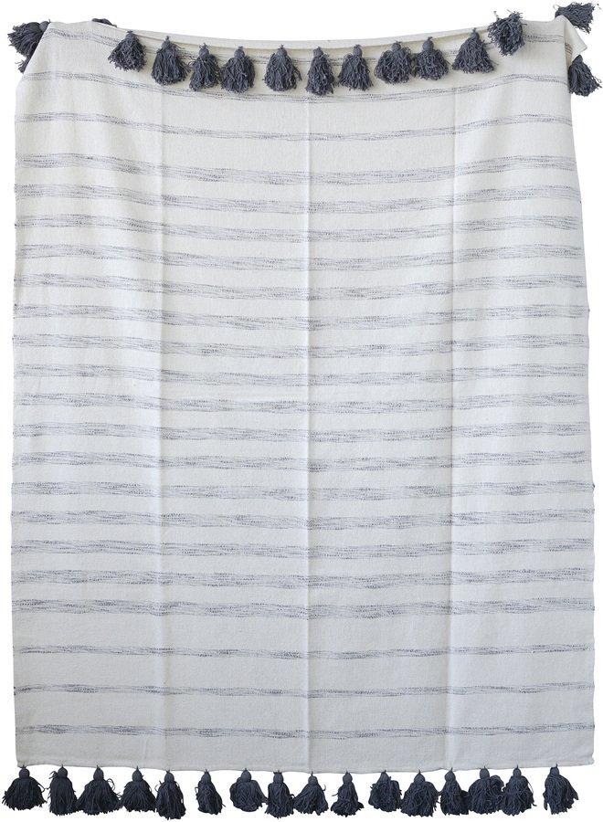 Jumbled Ex, Plaid, Bomuld by Creative Collection (B: 130 cm. L: 150 cm., Grå)
