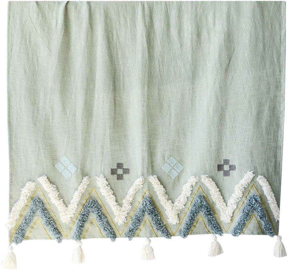 Boho Livin, Plaid, 100% bomuld by Creative Collection (B: 130 cm. L: 150 cm., Multifarvet)