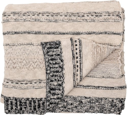På billedet ser du variationen Nordic, Plaid, Bomuld, OEKO-TEX fra brandet Bloomingville i en størrelse B: 130 cm. L: 160 cm. i farven Grå