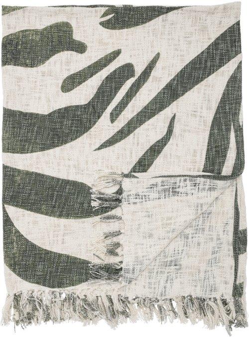 På billedet ser du variationen Cozy, Plaid, Bomuld fra brandet Bloomingville i en størrelse B: 130 cm. L: 160 cm. i farven Grøn