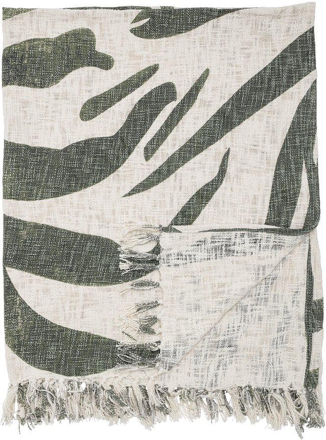 Cozy, Plaid, Bomuld by Bloomingville (B: 130 cm. L: 160 cm., Grøn)