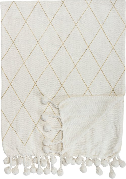 På billedet ser du variationen Cozy, Plaid, Bomuld fra brandet Creative Collection i en størrelse B: 125 cm. L: 150 cm. i farven Hvid