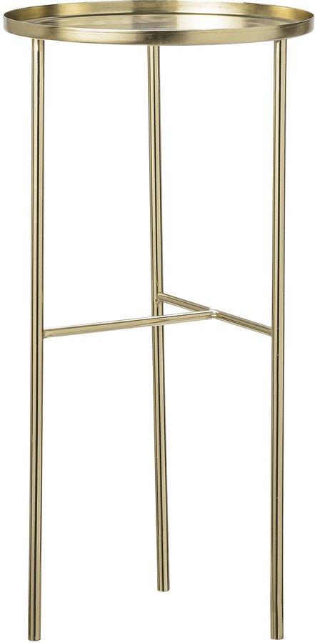 På billedet ser du variationen Cozy, Højt sidebord, Guld, Metal fra brandet Bloomingville i en størrelse D: 30 cm. H: 60 cm. i farven Guld