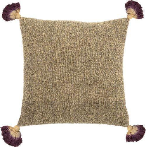 På billedet ser du variationen Cozy, Pude, Bomuld, Polyester fra brandet Bloomingville i en størrelse B: 45 cm. L: 45 cm. i farven Gul