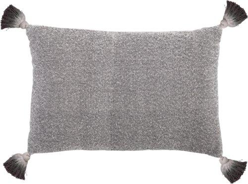 På billedet ser du variationen Nordic, Pude, Bomuld, Polyester fra brandet Bloomingville i en størrelse B: 40 cm. L: 60 cm. i farven Grå