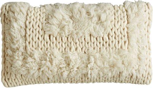 På billedet ser du variationen Ivory, Pude, Uld, Bomuld fra brandet Creative Collection i en størrelse B: 30 cm. L: 55 cm. i farven Natur