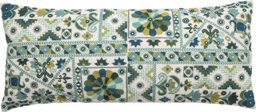 På billedet ser du variationen Cozy, Pude, Bomuld, Multifarvet fra brandet Creative Collection i en størrelse B: 35,5 cm. L: 81 cm. i farven Grøn
