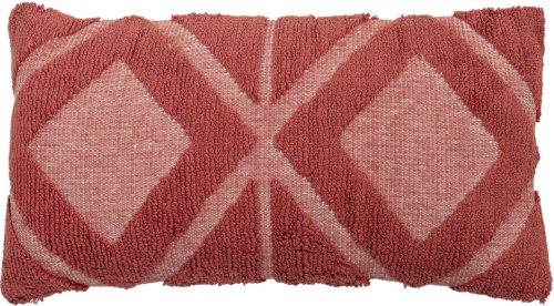 På billedet ser du variationen Cozy, Pude i flot mønster, Bomuld, Rød fra brandet Creative Collection i en størrelse B: 35 cm. L: 60 cm. i farven Rød