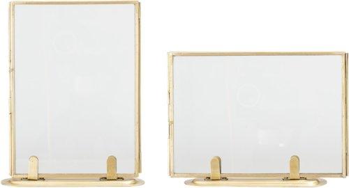 På billedet ser du variationen Nordic, Ramme, Messing, Glas fra brandet Bloomingville i en størrelse H: 18,2 cm. L: 14 cm. i farven Guld