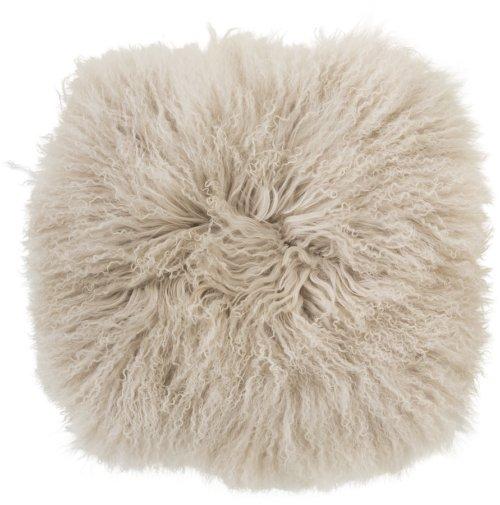 På billedet ser du variationen Ivory, Sædebetræk, Mongolsk lammeskind fra brandet Bloomingville i en størrelse H: 1 cm. B: 40 cm. L: 40 cm. i farven Natur