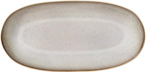 På billedet ser du variationen Nordic, Serveringsfad, Stentøj keramik fra brandet Bloomingville i en størrelse B: 21 cm. L: 42 cm. i farven Grå/Brun