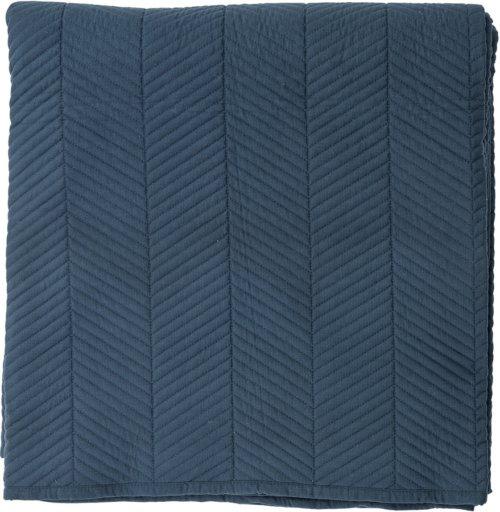 På billedet ser du variationen Sengetæppe, Polyester fra brandet Bloomingville i en størrelse B: 260 cm. L: 220 cm. i farven Blå