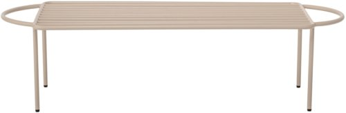 På billedet ser du variationen Cozy, Bænk, Jern fra brandet Bloomingville i en størrelse H: 27 cm. B: 36,5 cm. L: 102 cm. i farven Natur
