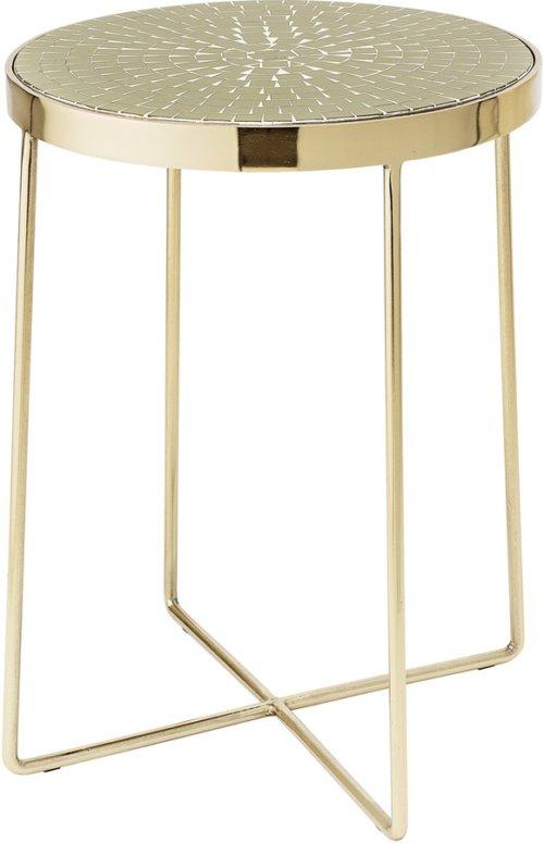 På billedet ser du variationen Nordic, Sidebord, Jern, Glas fra brandet Creative Collection i en størrelse D: 41 cm. H: 56 cm. i farven Grøn