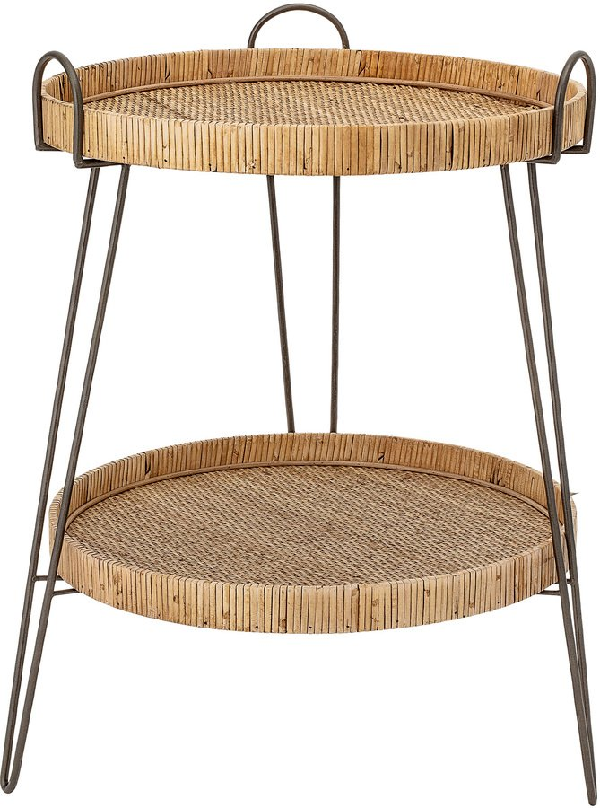Harmony, Sidebord, Rattan, Jern by Creative Collection (D: 57 cm. H: 71 cm., Natur)