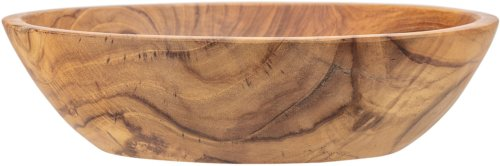På billedet ser du variationen Cozy, Skål, Teaktræ fra brandet Bloomingville i en størrelse H: 8 cm. L: 30 cm. i farven Brun
