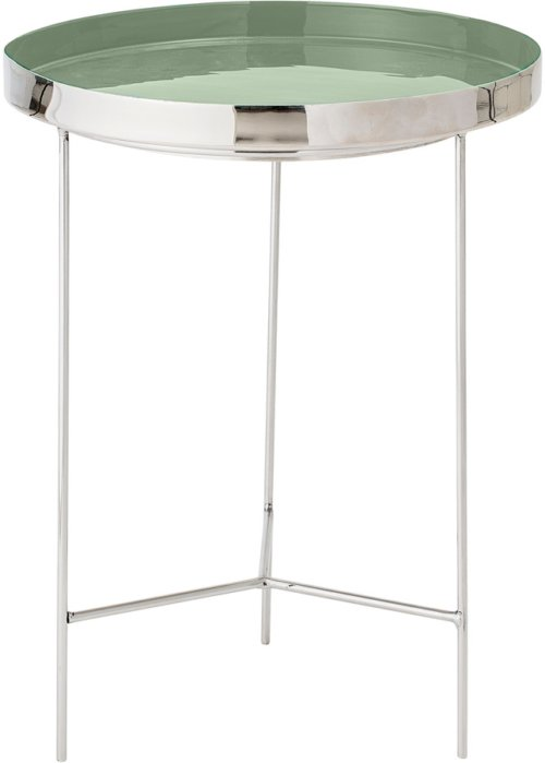 På billedet ser du variationen Nordic, Bakkebord, Aluminium fra brandet Bloomingville i en størrelse D: 40 cm. H: 50 cm. i farven Grøn