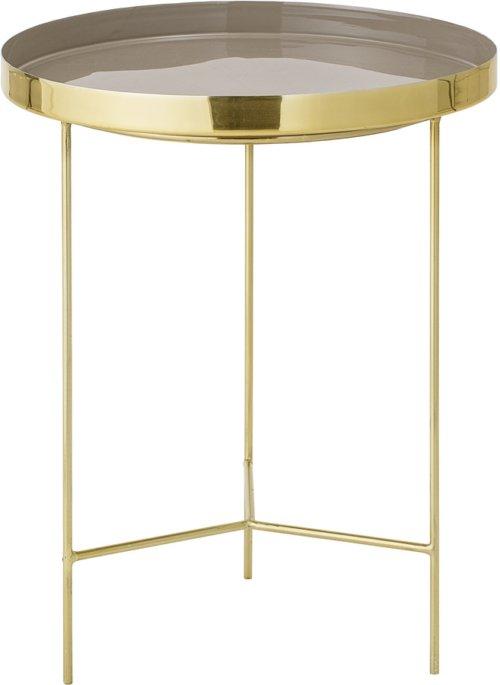 På billedet ser du variationen Nordic, Bakkebord, Aluminium fra brandet Bloomingville i en størrelse D: 40 cm. H: 50 cm. i farven Brun