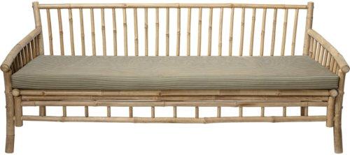 På billedet ser du variationen Cozy, Sofa, Bambus, Polyester fra brandet Bloomingville i en størrelse H: 75 cm. B: 77 cm. L: 175 cm. i farven Natur