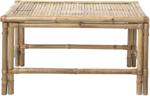 På billedet ser du variationen Cozy, Sofabord, Bambus fra brandet Bloomingville i en størrelse H: 50 cm. B: 60 cm. L: 90 cm. i farven Natur