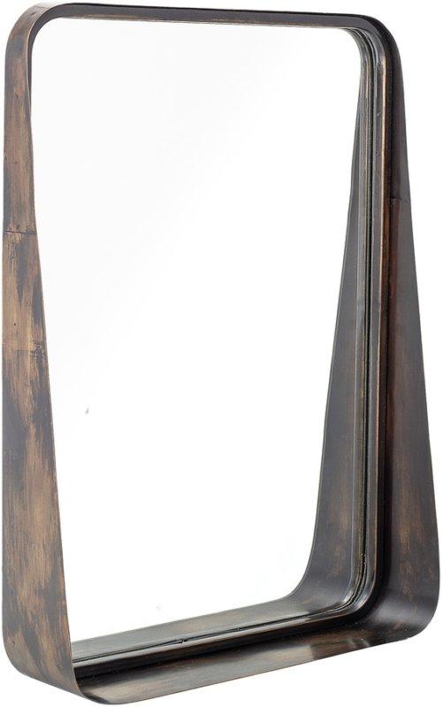 På billedet ser du variationen Harmony, Spejl, Jern, Glas fra brandet Bloomingville i en størrelse H: 60 cm. B: 10 cm. L: 46 cm. i farven Sort