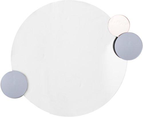 På billedet ser du variationen Nordic, Spejl med små spejle fra brandet Bloomingville i en størrelse D: 46 cm. i farven Klar