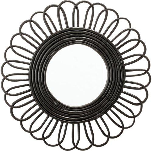 På billedet ser du variationen Nordic, Spejl, Glas, Bambus fra brandet Bloomingville i en størrelse D: 48 cm. B: 2 cm. i farven Sort