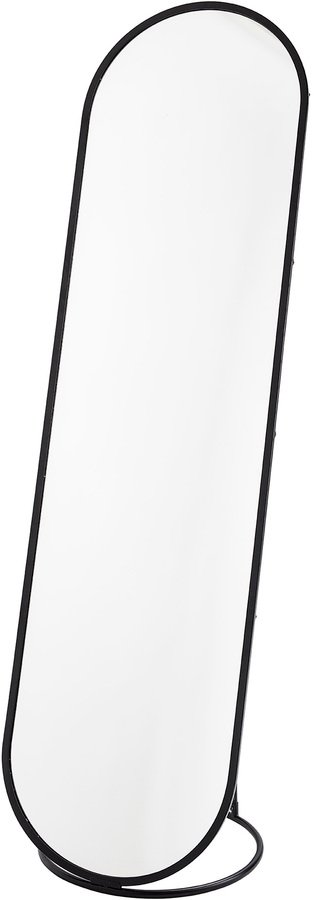 På billedet ser du variationen Nordic, Gulvspejl, Aflangt fra brandet Bloomingville i en størrelse H: 180 cm. B: 47 cm. L: 50 cm. i farven Sort