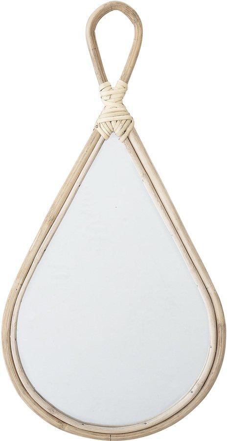 På billedet ser du variationen Collected, Spejl, Bambus, Spejlglas fra brandet Bloomingville i en størrelse H: 55 cm. B: 28 cm. i farven Natur
