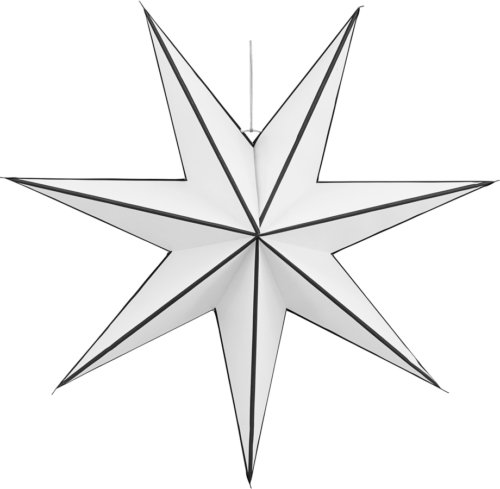 På billedet ser du variationen Stjerne, Heaven fra brandet House Doctor i en størrelse Ø: 60 cm. i farven Hvid/Sort