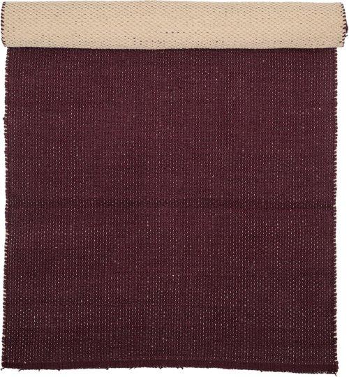 På billedet ser du variationen Tæppe, Bomuld fra brandet Bloomingville i en størrelse B: 60 cm. L: 120 cm. i farven Brun