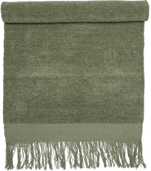På billedet ser du variationen Nordic, Tæppe, Bomuld fra brandet Bloomingville i en størrelse B: 60 cm. L: 135 cm. i farven Grøn
