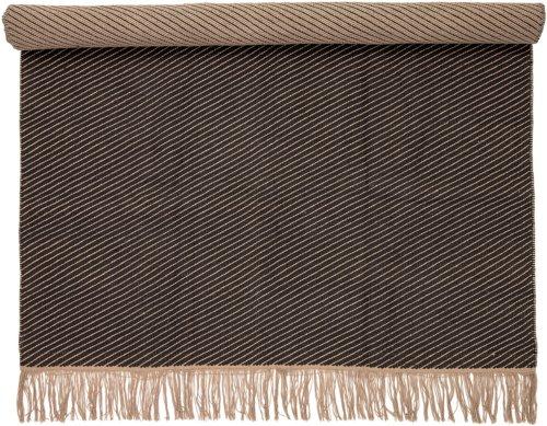 På billedet ser du variationen Cozy, Tæppe, Bomuld fra brandet Bloomingville i en størrelse B: 140 cm. L: 200 cm. i farven Brun