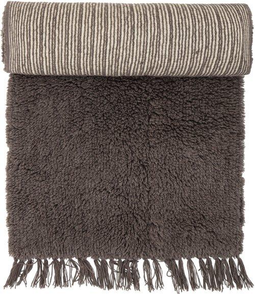 På billedet ser du variationen Nordic, Tæppe, Uld, Bomuld fra brandet Bloomingville i en størrelse B: 70 cm. L: 240 cm. i farven Brun