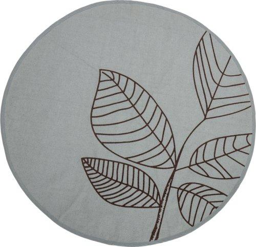 På billedet ser du variationen Nordic, Tæppe med blomst-motiv, Bomuld fra brandet Bloomingville i en størrelse D: 120 cm. i farven Grøn
