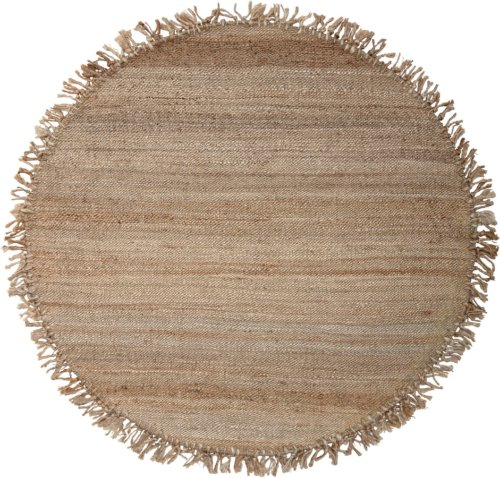 På billedet ser du variationen Cozy, Tæppe, Jute fra brandet Bloomingville i en størrelse D: 150 cm. i farven Natur