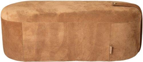 På billedet ser du variationen Cozy, Puf, Ruskind, Aflang fra brandet Bloomingville i en størrelse H: 35 cm. B: 40 cm. L: 100 cm. i farven Brun