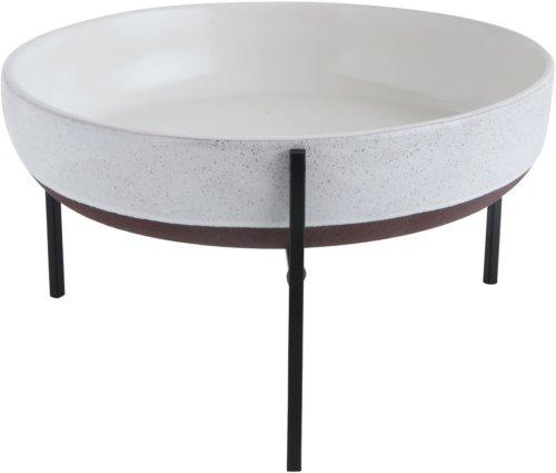 På billedet ser du variationen Boho Livin, Urtepotteskjuler, Keramik fra brandet Creative Collection i en størrelse D: 30 cm. H: 18 cm. i farven Hvid