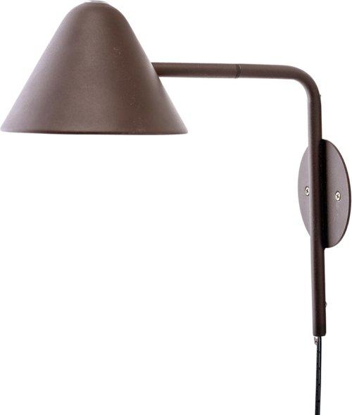 På billedet ser du variationen Cozy, Væglampe, Jern fra brandet Bloomingville i en størrelse D: 15 cm. H: 30 cm. B: 29 cm. i farven Brun