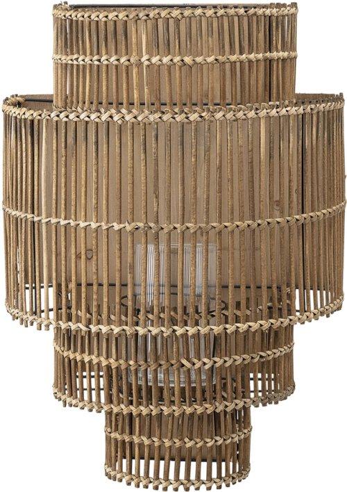 På billedet ser du variationen Cozy, Lanterne m/Glas, Bambus, Glas fra brandet Bloomingville i en størrelse H: 52 cm. B: 24 cm. L: 37 cm. i farven Natur