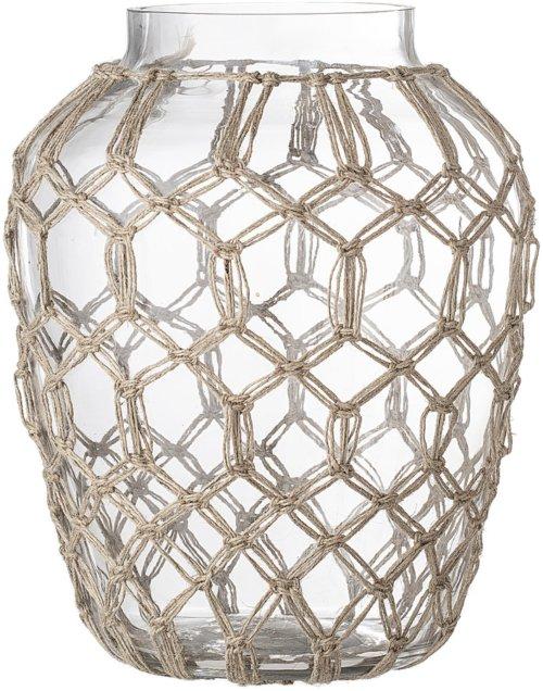 På billedet ser du variationen Cozy, Vase, Glas fra brandet Bloomingville i en størrelse D: 20 cm. H: 25,5 cm. i farven Klar