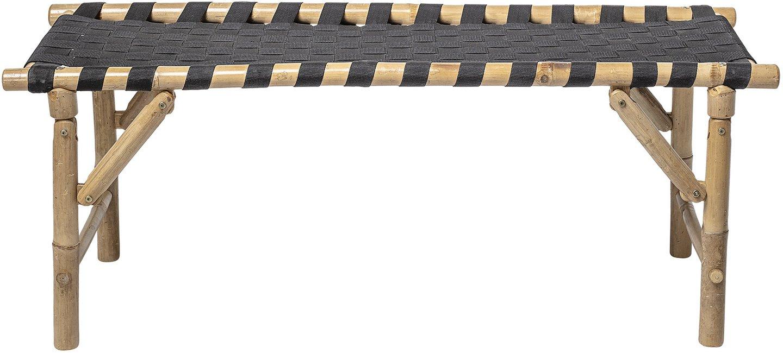 Nordic, Bænk, Bambus by Bloomingville (H: 45 cm. B: 40 cm. L: 115 cm., Natur/Sort)