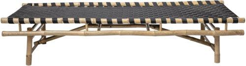 På billedet ser du variationen Nordic, Daybed, Bambus fra brandet Bloomingville i en størrelse H: 40 cm. B: 70 cm. L: 190 cm. i farven Natur